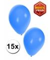Blauwe ballonnen 15 stuks