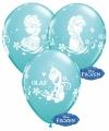 Blauwe frozen ballonnen 6 stuks