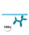 Blauwe modelleer ballonnen 100 stuks