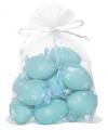 Blauwe plastic eieren 12 stuks