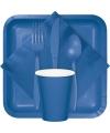 Blauwe servetten 33 x 33 cm