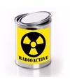 Blik met radioactief gif