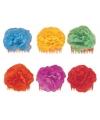 Bloemen haarklem paars
