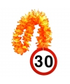 Bloemenslinger 30 jaar verkeersborden print