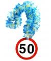 Bloemenslinger 50 jaar verkeersborden print
