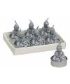 Boeddha theelichtje zilver