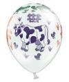 Boerderij dieren ballonnen 6 stuks