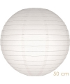 Bol lampion wit 50 cm