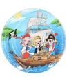 Bordjes piratenfeestje 6 stuks