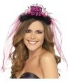 Bride to be tiara met roze sluier