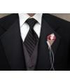 Bruiloft corsages met jute 2 stuks