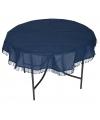 Buiten tafelkleed rond donkerblauw 160 cm