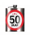 Cadeau 50 jaar heupfles 200 ml