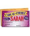 Cadeau cheque voor de sarah 20 x 34 cm