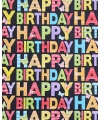 Cadeaupapier happy birthday zwart