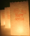 Candle bag set happy newyear 26 cm