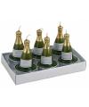 Champagnefles theelichtjes 6 stuks