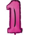 Cijfer 1 ballon roze