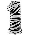 Cijfer 1 ballon zebra