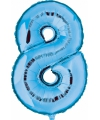 Cijfer 8 ballon blauw