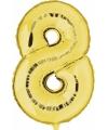 Cijfer 8 ballon goud