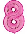 Cijfer 8 ballon roze