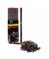 Confetti kanon multi kleur metallic 40 cm