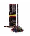 Confetti kanon multi kleur metallic 80 cm