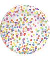 Confetti thema bordjes 8 stuks