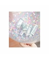 Confetti vulset met 25 hartjes ballonnen