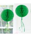 Decoratie bol donker groen 30 cm