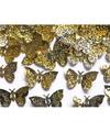 Decoratie confetti gouden vlinders 15 gram