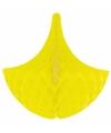 Decoratie kroonluchter geel 35 cm