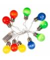 Decoratie led verlichting gekleurde peertjes bundel