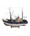 Decoratie model vissersboot 45 cm