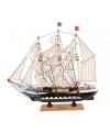 Decoratie model zeiljacht 34 cm