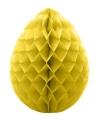 Decoratie paasei geel 30 cm
