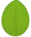Decoratie paasei groen 20 cm