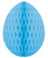 Decoratie paasei lichtblauw 20 cm