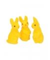 Decoratie paashaasjes geel 3 stuks