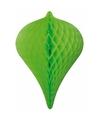 Decoratie pegel groen 30 cm