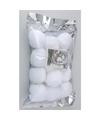 Decoratie sneeuwballen 6 cm 12 stuks