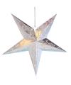 Decoratie ster lampion zilver