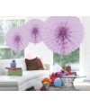 Decoratie waaier lila 45 cm