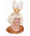 Diadeem met konijnen oren bruin