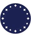 Donkerblauwe placemats 33 cm