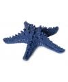 Donkerblauwe zeester decoratie 16 x 4 x 15 cm