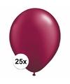 Donkerrode ballonnen 25 stuks