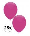 Donkerroze ballonnen 25 stuks