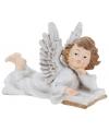 Engel met boek beeldje 21 cm type 1